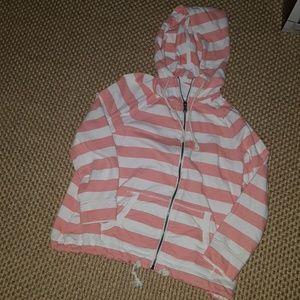 Sonoma striped zip up hoodie